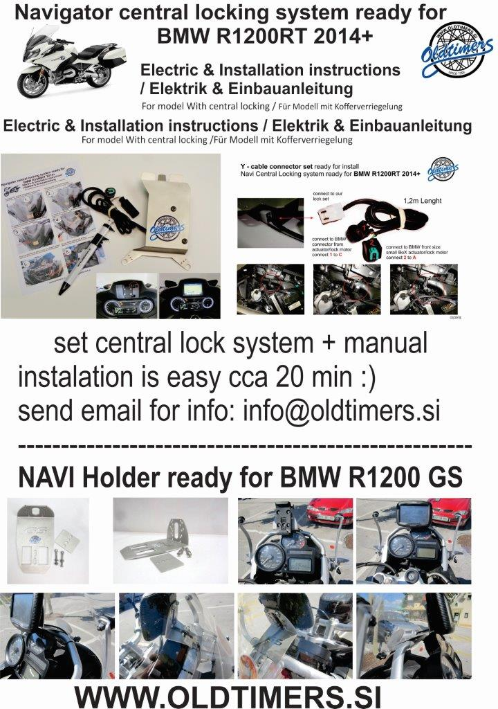 BMW navi central lock 05 2018
